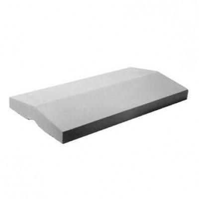 Couvre mur béton 2 pentes 60x50 cm pour mur de 54 cm l'u