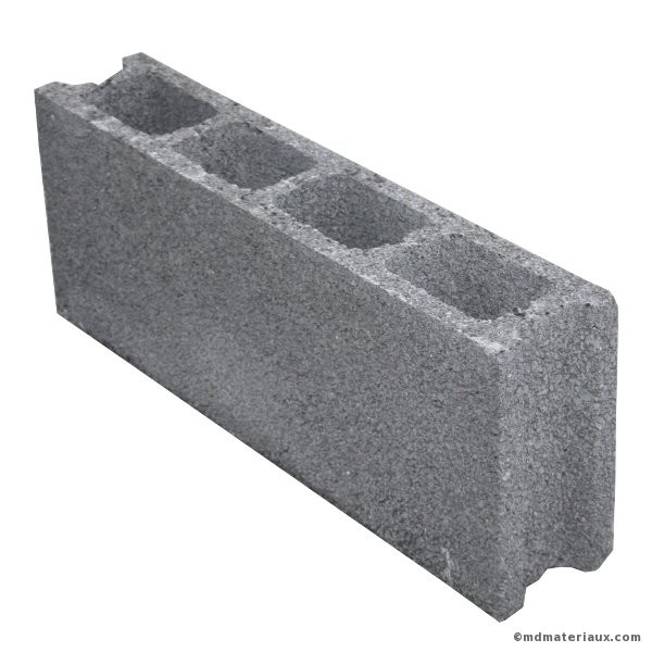 bloc b ton de 15x20x50 cm creux nf l 39 u. Black Bedroom Furniture Sets. Home Design Ideas