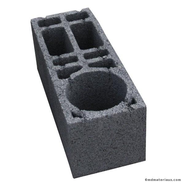 Bloc béton de chainage vertical 20x20x50 NF l'u
