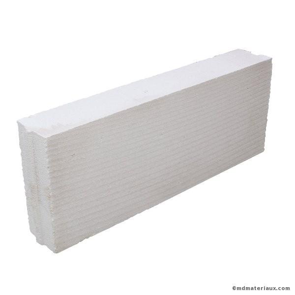 Bloc béton cellulaire 25x62,5 ep 10 cm