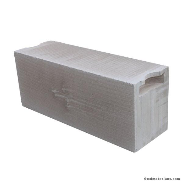 Bloc béton cellulaire 25x62,5 ep 20 cm