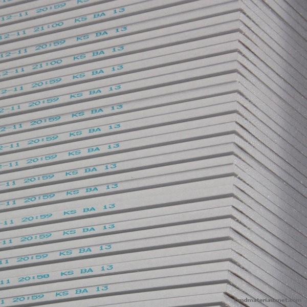 Plaque de plâtre BA 13 NF 2,5x0,6 m, la plaque