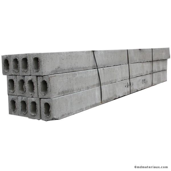 Linteau béton 14x19 cm en 1, 60 mètre l'u